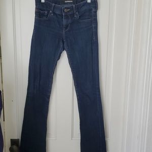 Express ladies dark wash jeans